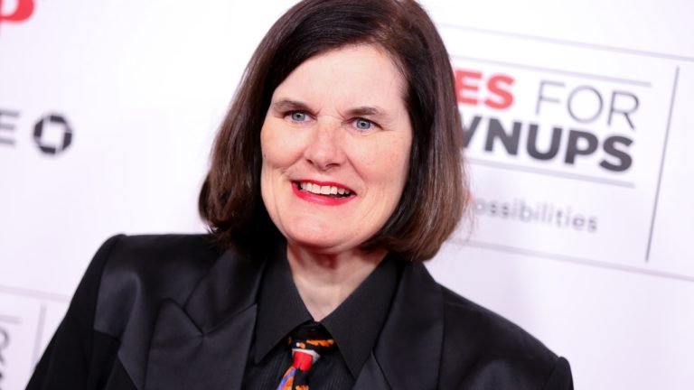 Paula Poundstone arrives at the 15th Annual Movies for Grownups Awards at the Beverly Wilshire Hotel on Monday, Feb. 8, 2016, in Beverly Hills, Calif. (Photo by Rich Fury/Invision/AP)