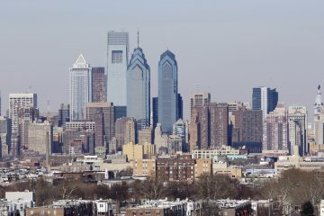 Shown is the skyline in Philadelphia, Thursday, March 5, 2009. (Matt Rourke/AP Photo)