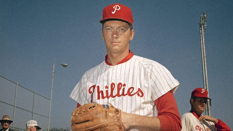 Jim Bunning of Philadelphia Phillies in an undated photo. Location unknown. (AP Photo)