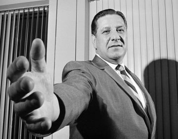 In 1968, Philadelphia Police Commissioner Frank Rizzo, then 47. extends a hand at his office in police headquarter. (Bill Achatz/AP Photo)