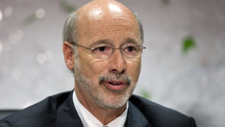 Pennsylvania Gov. Tom Wolf speaks during a news conference, Tuesday, Aug. 11, 2015, in Norristown, Pa. (Matt Rourke/AP Photo)