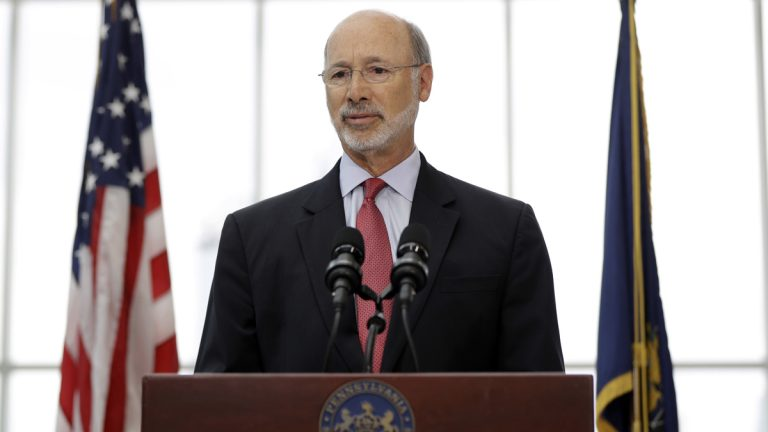 Pennsylvania Gov. Tom Wolf says the state is cutting  thousands of unfilled state jobs. (AP file photo)