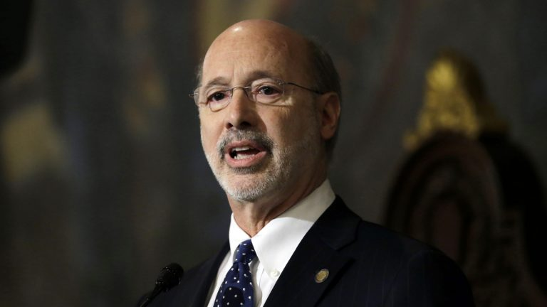 Gov. Tom Wolf delivers his budget address for the 2015-16 fiscal year to a joint session of the Pennsylvania House and Senate  Tuesday in Harrisburg. Wolf is seeking more than $4 billion in higher taxes on income