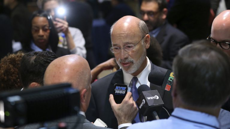 Pennsylvania Gov. Tom Wolf's re-election effort may depend in part on how well or poorly President-elect Donald Trump does in his first year in the White House. (Mel Evans/AP Photo