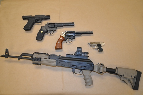 <p>&lt;p&gt;Wilmington Police seized this assortment of guns during a drug bust in the 500 block of N. Franklin Street Thursday night. (photo courtesy Wilmington PD)&lt;/p&gt;</p>
