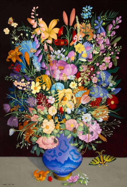 """<p><p>""""Flower Still Life"""" by Phillip Jamison. (Courtesy of Woodmere Art Museum)</p></p>"""
