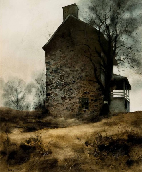 """<p><p>""""John Chadd's House"""" by Philip Jamison (Courtesy of Woodmere Art Museum)</p></p>"""