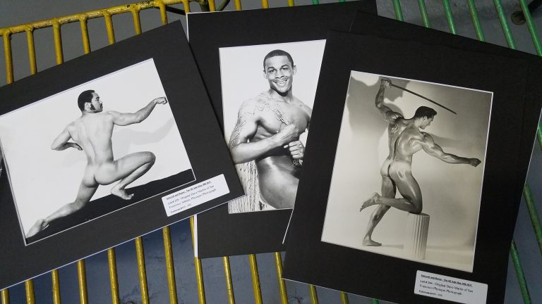 A sample of vintage prints by Dave Martin that will be auctioned Friday.(Peter Crimmins/WHYY)