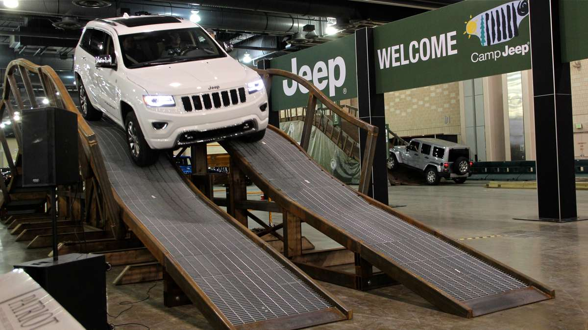 Camp Jeep allows visitors to have an off-road experience.