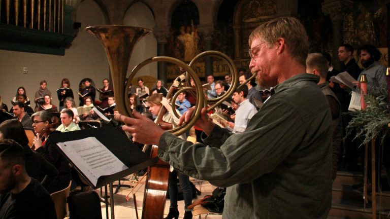 Musicians rehearse for a rare performance of Bach's