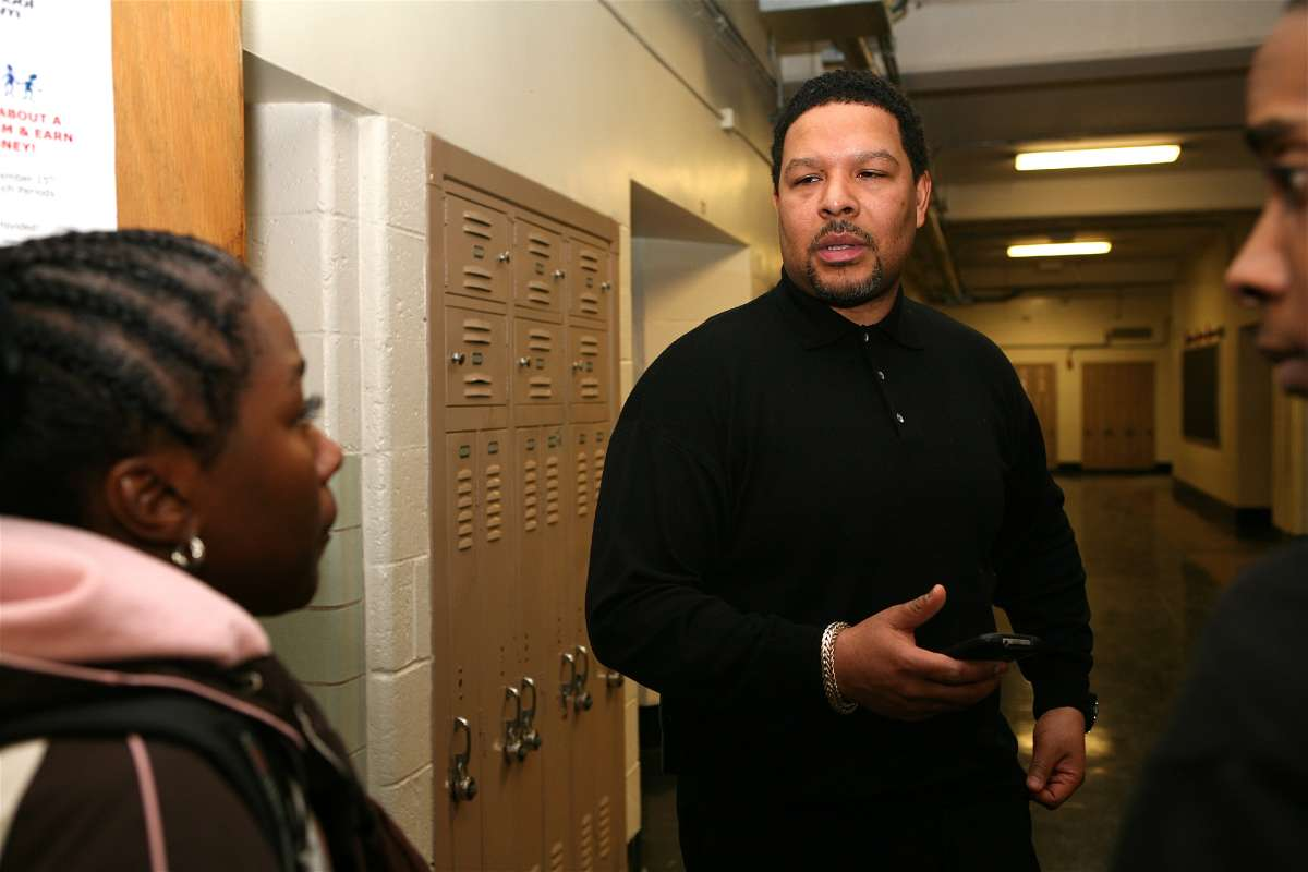Otis Hackeny, principal of South Philadelphia High School (Photo by Harvey Finkle/The Notebook)