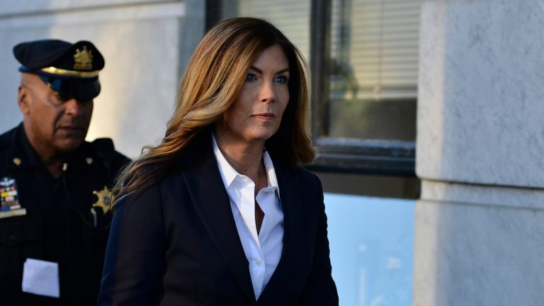 Former Pennsylvania Attorney General Kathleen Kane arrives at the Montgomery County courthouse in Norristown