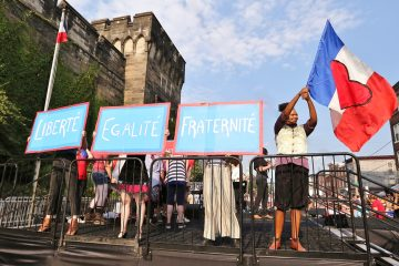 Join the annual Bastille Day Block Party Saturday, July 15, as Eastern State Penitentiary and the Bearded Ladies cabaret troupe present the French Revolution in a spectacle of song and dance. Photo by Darryl Moran.