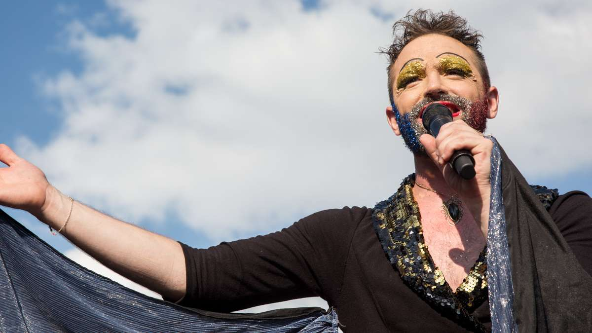 John Jarboe of the Bearded Ladies Cabaret performs as Edith Piaf