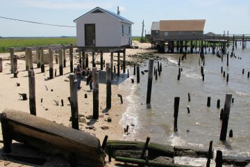 Sandy capriciously left some homes standing in Bay Point while sweeping others away. (Emma Lee/WHYY)