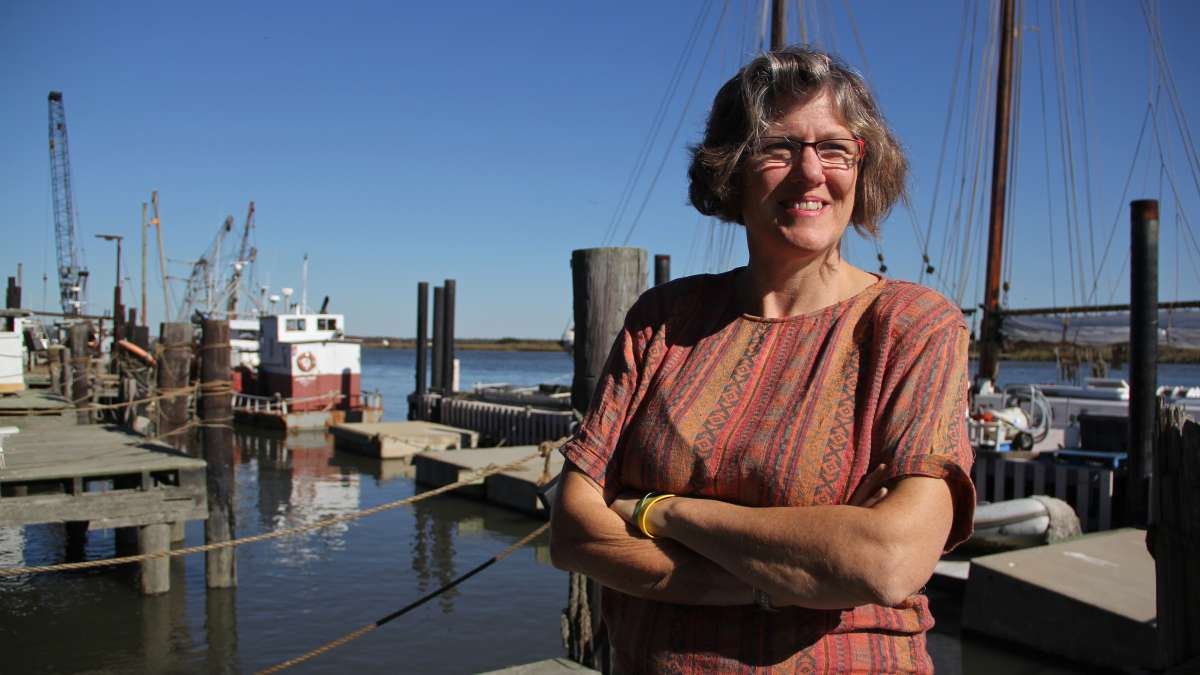 Meghan Wren, director of the Bayshore Center at Bivalve, also chairs the Cumberland County Long Term Recovery Group, which helps Sandy victims. (Emma Lee/WHYY)