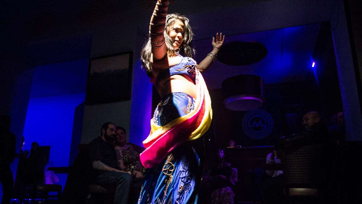 Dancer Dellaneira performs at the 5th annual Belly Dancers Fight for Air.