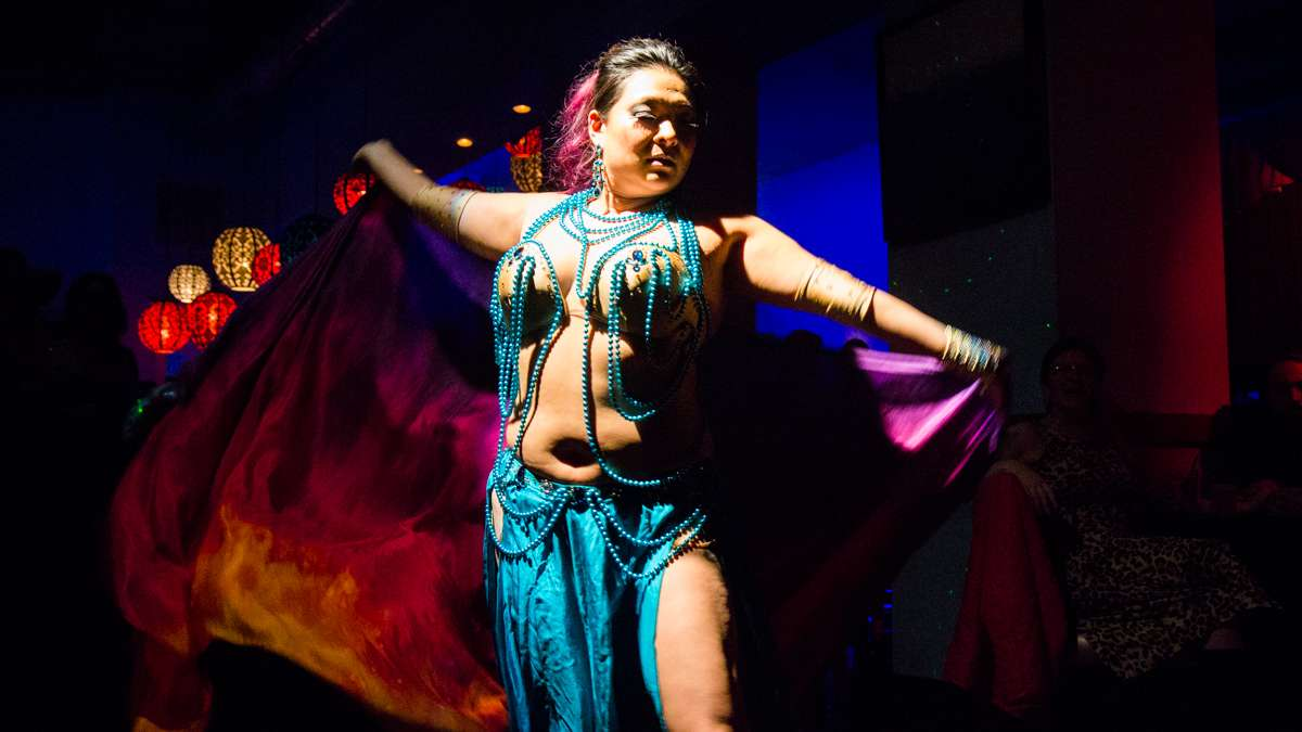 Dancer Jaeda performs at the 5th annual Belly Dancers Fight for Air.