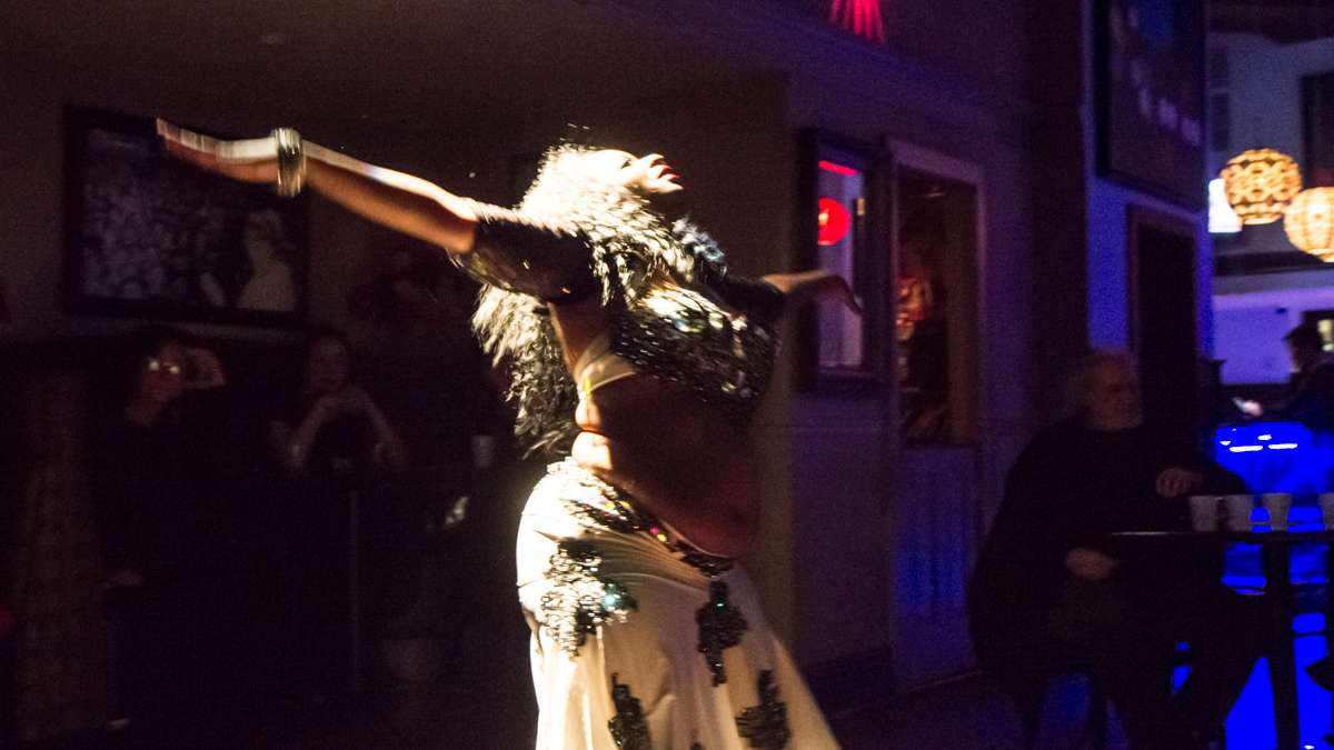 Dancer Khuzama performs at the 5th annual Belly Dancers Fight for Air.