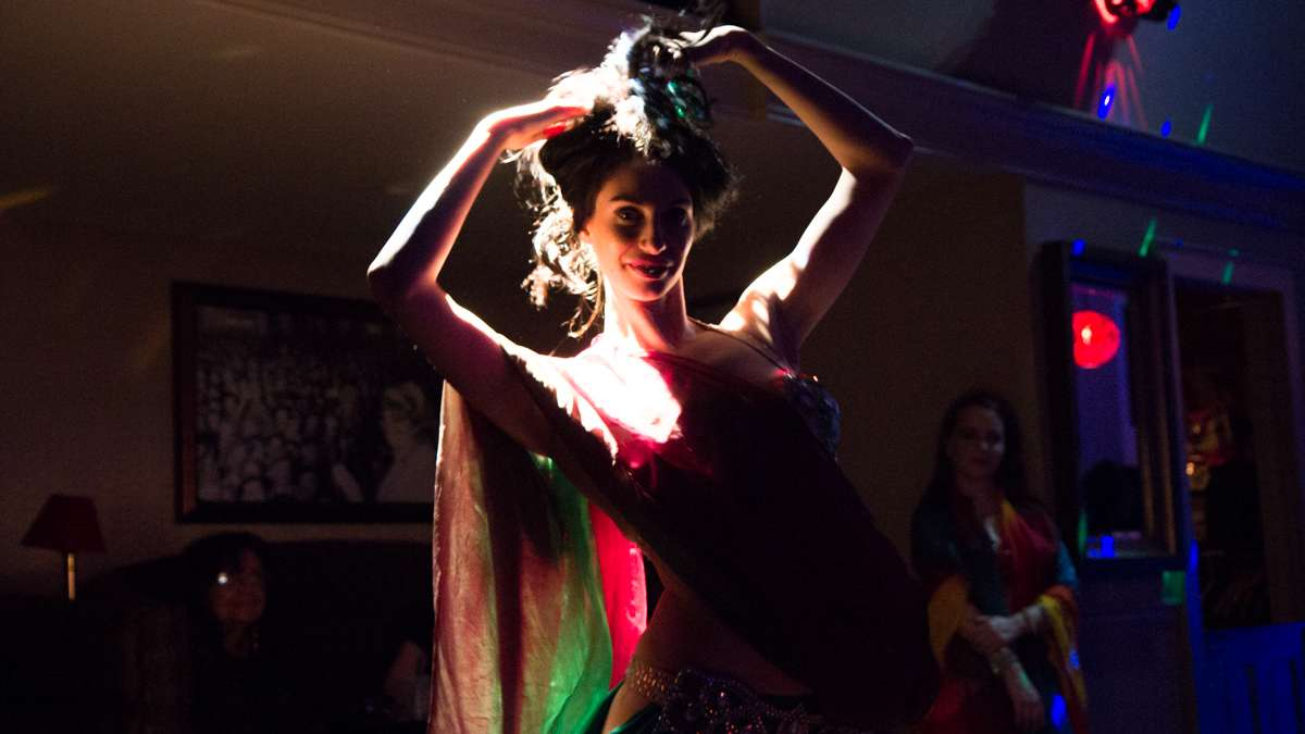 Dancer Krisitana performs at the 5th annual Belly Dancers Fight for Air.