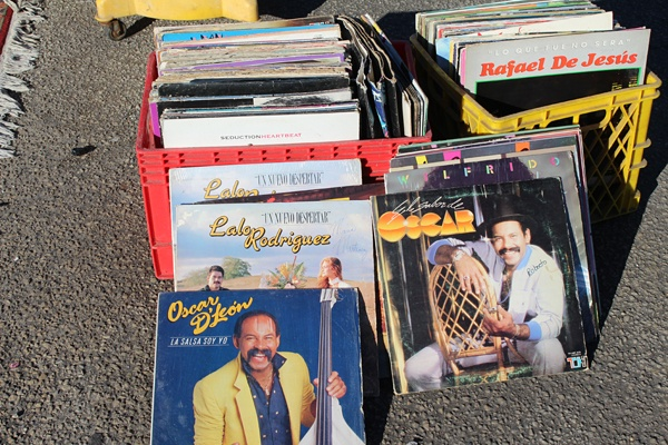 <p><p>Find old salsa LPs from the greatest Latin bandleaders at the Berlin Farmers Market. (Elisabeth Perez-Luna/WHYY)</p></p>