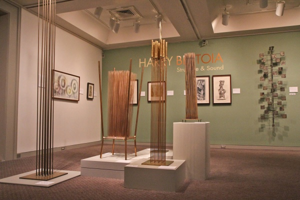 The Harry Bertoia exhibit at the Michener Museum. (Kimberly Paynter/WHYY)