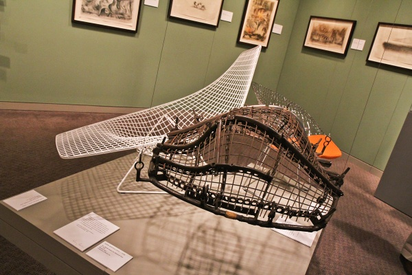 Harry Bertoia's chair designs are considered to be part of the modern furniture movement. (Kimberly Paynter/WHYY)
