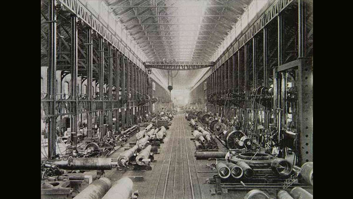One of the machine shops where U.S. military weapons and equipment were manufactured.  (Image courtesy of the Historical Society of Pennsylvania)