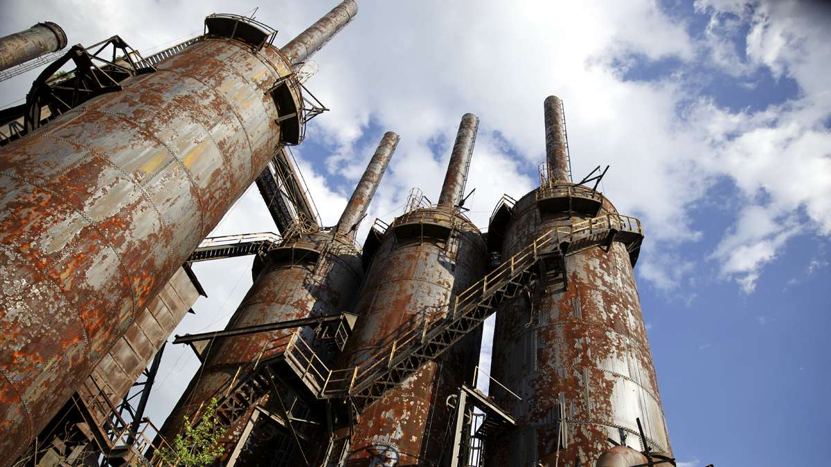 The blast furnaces would melt raw materials like limestone, iron ore and refined coal to make iron. (Lindsay Lazarski/WHYY)