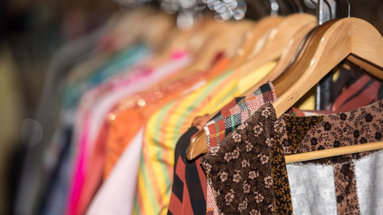 (<a href='https://www.bigstockphoto.com/image-130327175/stock-photo-vintage-clothes-for-sale-inside-a-shop'>Andrea Izzotti</a>/Big Stock Photo)