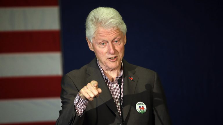 Former President Bill Clinton, shown here in a May 5, 2016, photograph, spoke with Attorney General Loretta Lynch during an impromptu meeting in Phoenix, but Lynch says the discussion did not involve the investigation into Hillary Clinton's email use as secretary of state. (AP Photo/Don Ryan)
