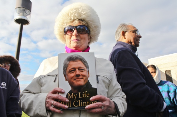<p>Jean Young is an Obama supporter and a Bill Clinton fan. (Kimberly Paynter/for NewsWorks)</p>