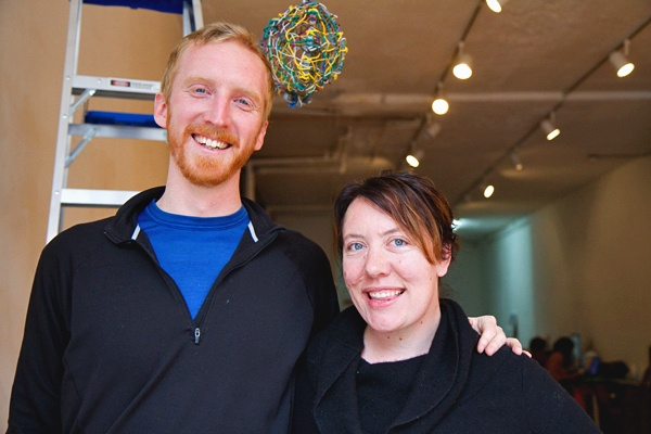 <p>&lt;p&gt;Zack Lamb and Carey Clouse, creators of the exhibition, Toss, will host a birdhouse building workshop Saturday, February 23, at the Storefront for Urban Innovation. (Lindsay Lazarski/WHYY)&lt;/p&gt;</p>