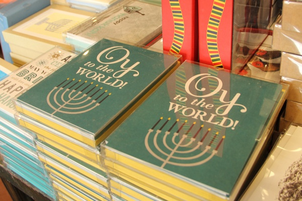<p><p>Chanukah humor lifts the spirits for retail employees and shoppers alike. (Marta Rusek/for NewsWorks)</p></p>