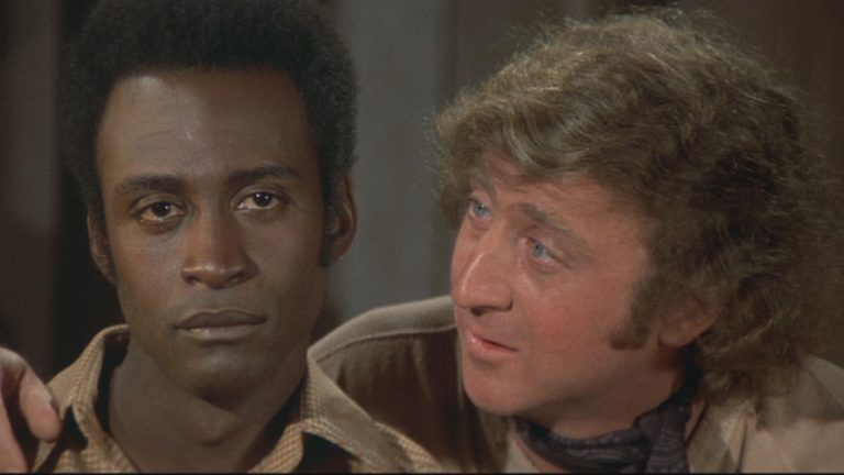 Cleavon Little and Gene Wilder are shown in this still image from the 1974 Warner Bros. film 'Blazing Saddles.'