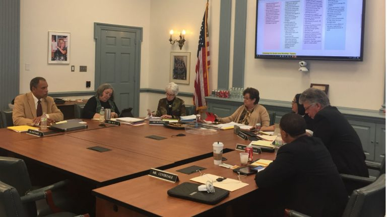The Delaware state Board of Education meets Thursday. State education leaders presented 2016 gradation and dropout rates, both of which represented improvements over the previous year. (Cris Barrish/WHYY)
