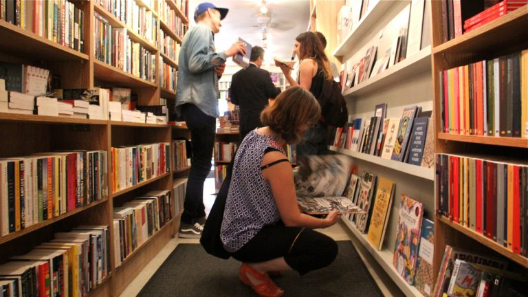 Joseph Fox Bookshop in Rittenhouse Square is one of 15 independent booksellers in the Philadelphia area participating in the Independent Bookstore Day promotion. (Emma Lee/WHYY)