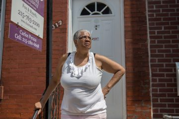 Mary Griffin has lived in the same home in Philadelphia's Brewerytown for almost 40 years. This summer she had to pack up and move because her landlord sold the house she rented. (Lindsay Lazarski/WHYY)