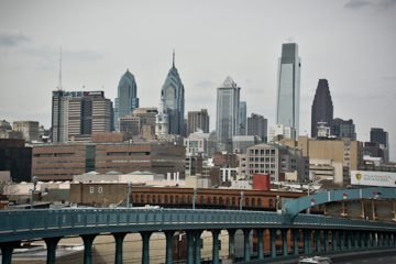 The Philadelphia skyline as seen from the Benjamin Franklin Bridge. (NewsWorks file photo)