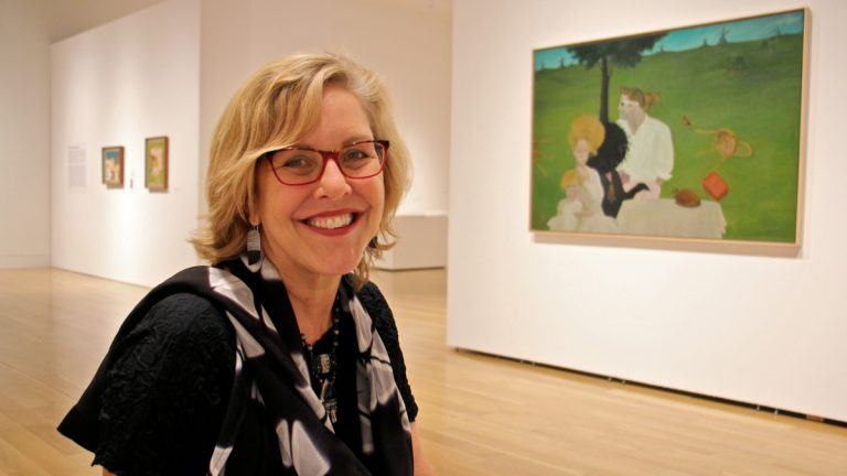 Brooke Davis Anderson is the new director of the museum at the Pennsylvania Academy of Fine Arts. (Emma Lee/WHYY)