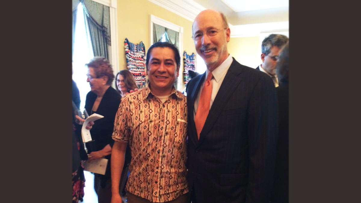 Brujo with Pa. governor Tom Wolf.
