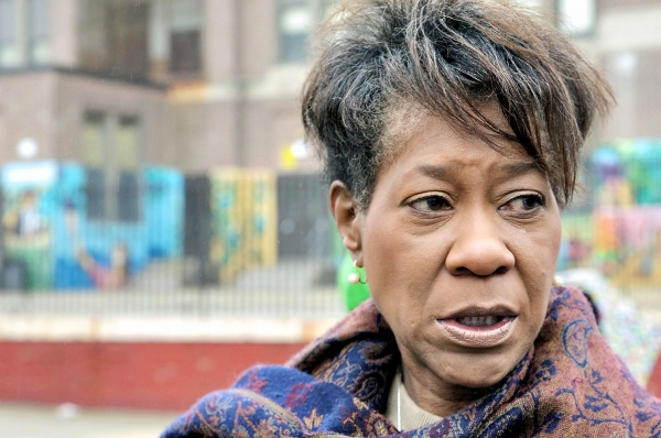 On a dreary day for canvassing, State Rep. Rosita Youngblood. (Bas Slabbers/for NewsWorks)