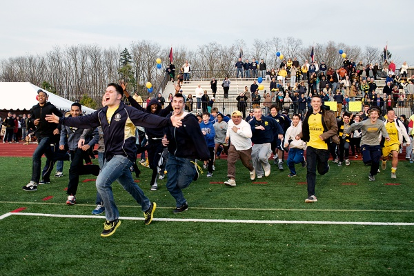 <p><p>Penn Charter fans storm the field to celebrate the school's victory. (Bas Slabbers/for NewsWorks)</p></p>