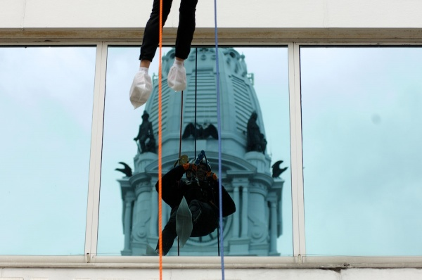 <p>&lt;p&gt;City Hall is seen behind the reflection of a rappeller. (Bas Slabbers/for NewsWorks)&lt;/p&gt;</p>