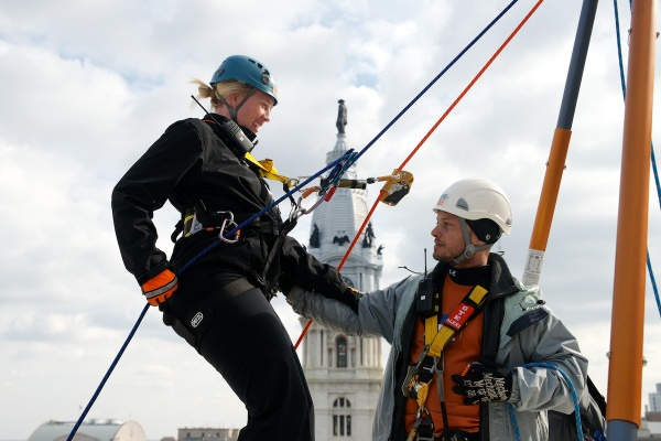<p>&lt;p&gt;A rappeller is seen hanging in the ropes of the instruction set-up. (Bas Slabbers/for NewsWorks)&lt;/p&gt;</p>