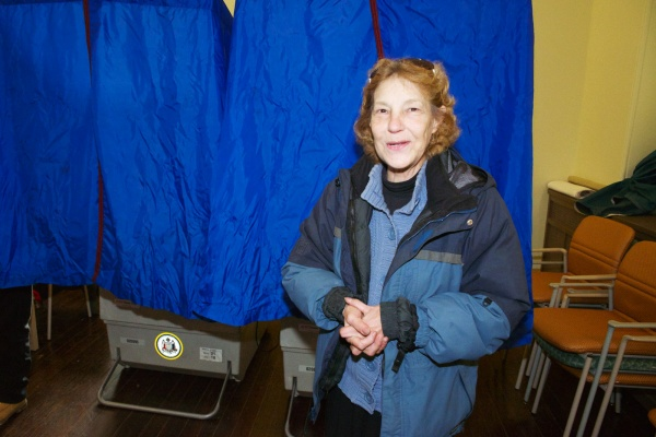 "<p><p>194th District State Rep. Candidate Linda Wolfe-Bateman casts her vote before saying, ""it looks optimistic but it is up to god, so well see."" (Bas Slabbers/for NewsWorks)</p></p>"