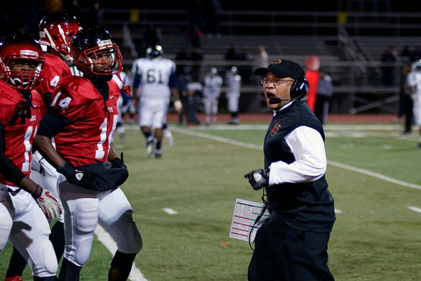 "<p><p>""It is emotional playing against my old school,"" said Imhotep Panthers coach Albie Crosby. (Bas Slabbers/for NewsWorks)</p></p>"