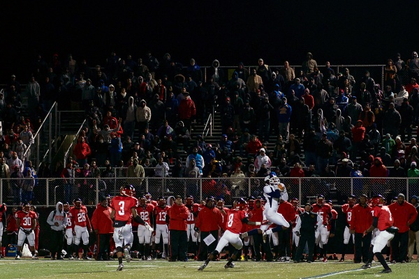 <p><p>The stands were packed at the Germantown stadium for the Imhotep/West Catholic PIAA subregional championship game. (Bas Slabbers/for NewsWorks)</p></p>
