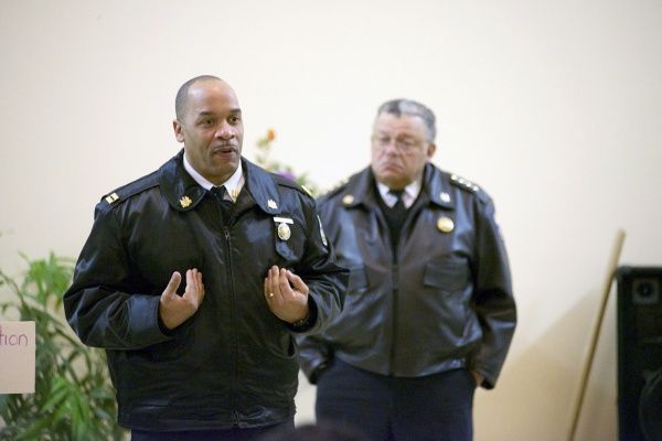 <p><p>Capt. Michael Craighead, who was recently appointed to head the 39th district, implored residents to reach out to police. (Bas Slabbers/for NewsWorks)</p></p>