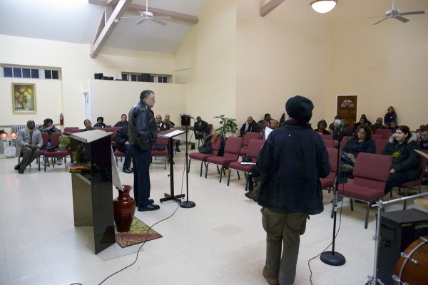 <p><p>The meeting, which took place at the Holy Temple of Deliverance Church, covered everything from broad departmental strategies to local deployment tactics. (Bas Slabbers/for NewsWorks)</p></p>